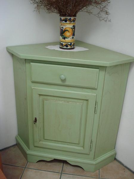 Angoliera decap verde antico bottega d 39 arte snc arredamenti - Angoliere per bagno ...