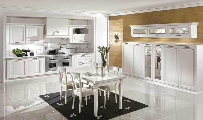 Cucina Classica Bianca. Simple Bellezza Mobili Cucina Con Finestra ...